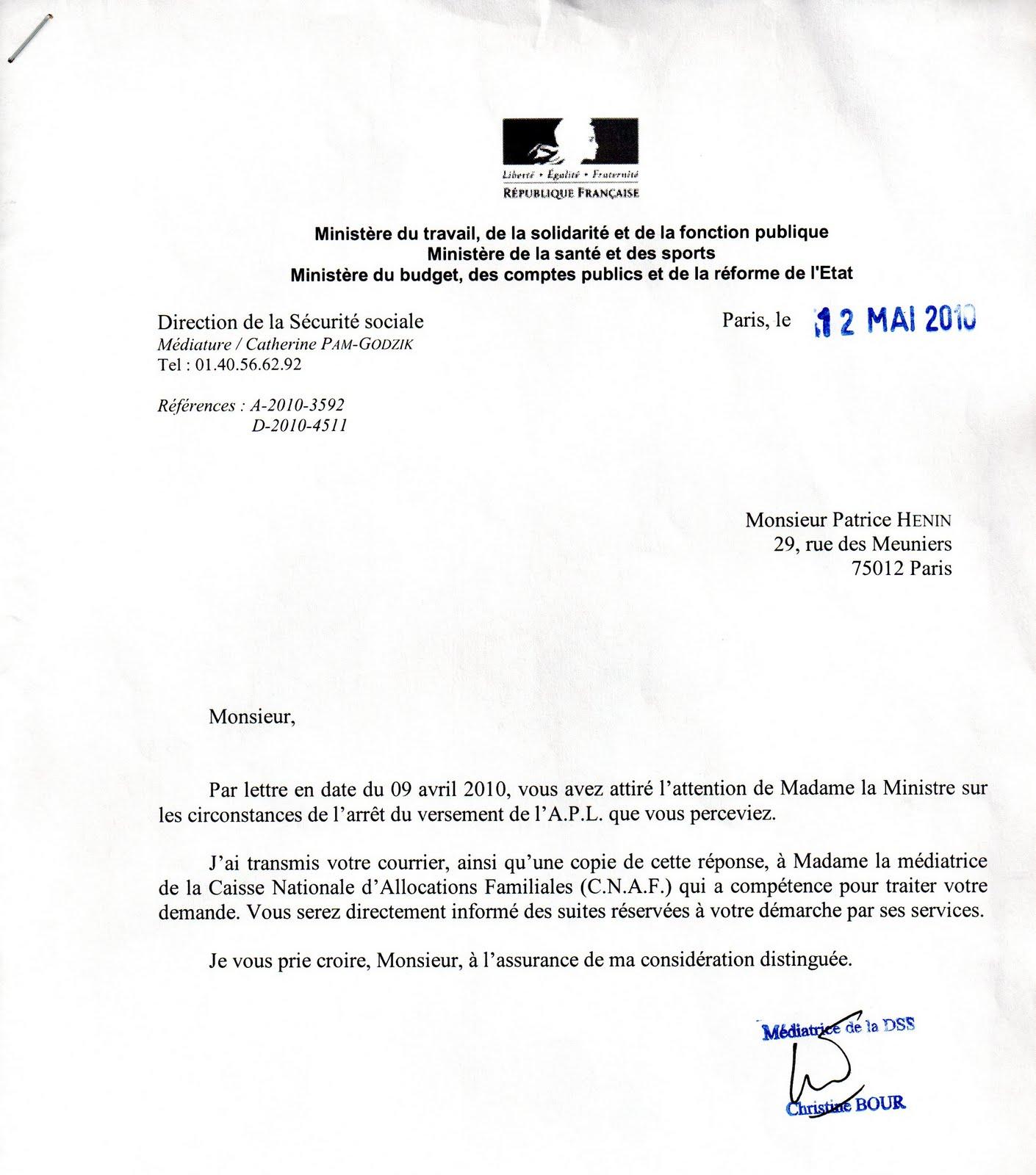 Lettre Pour Demander Le Versement Caf Apl